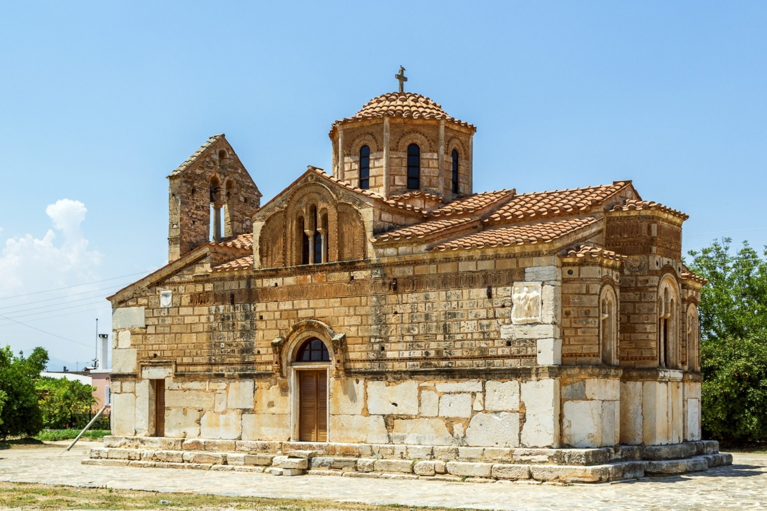 Church of The Koimesis is old Byzantine church near Nafplio city, Greece